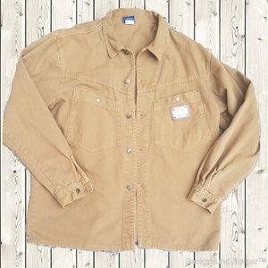 KARL KANI Vintage 1990's Brown Denim Jacket XL